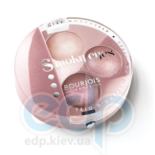 Тени для век 3-цветные компактные Bourjois - Smoky Eyes №05 Розовый - 4.5 g
