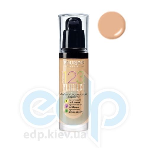 Тональный крем для лица матирующий Bourjois - 1,2,3 Perfect №56 SPF 10 Бежево-розовый - 30 ml