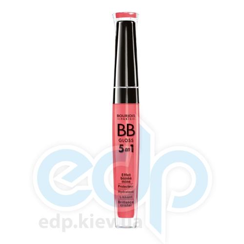 Блеск для губ увлажняющий с эффектом естественного сияния Bourjois - BB Gloss 5в1 №02 Коралловый - 5.7 ml
