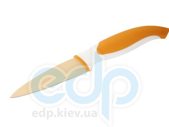 Granchio - Нож для овощей оранжевый - 9 см (арт. 88657)