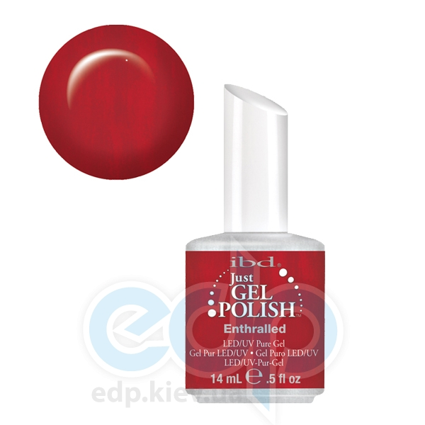 ibd - Just Gel Polish - Entralled Красно-бордовый, глянец. № 552 - 14 ml