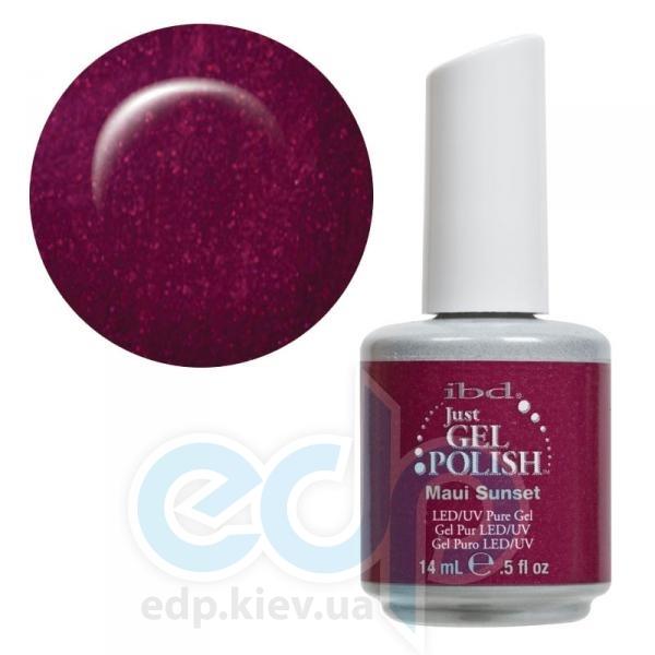 ibd - Just Gel Polish - Maui Sunset Сиренево-бордовый с перламутром. №517 - 14 ml