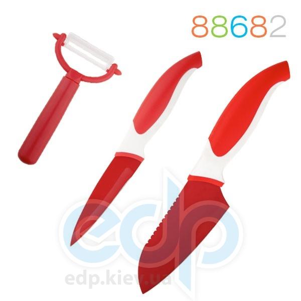 ranchio - Набор ножей и овощечистка 3 предмета красный (арт. 88682)
