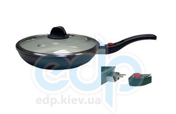 Maestro - сковорода с крышкой диаметр 28 см индукционная белая керамика (арт. МР1204-28)