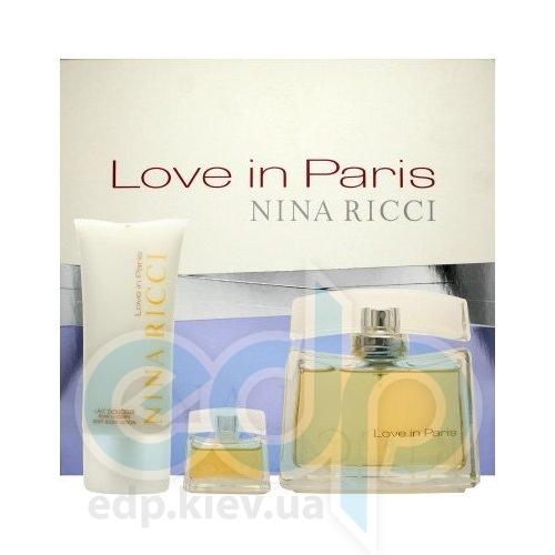 Nina Ricci Love in Paris -  Набор (парфюмированная вода mini 5 + лосьон-молочко для тела 25 + гель для душа 25)