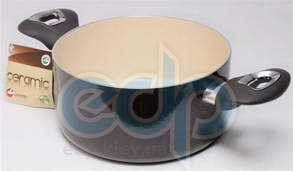 Lumenflon - Кастрюля без крышки Ceramic & Chocolate, диаметр 24 см, объем 5 л (арт. CECT24)