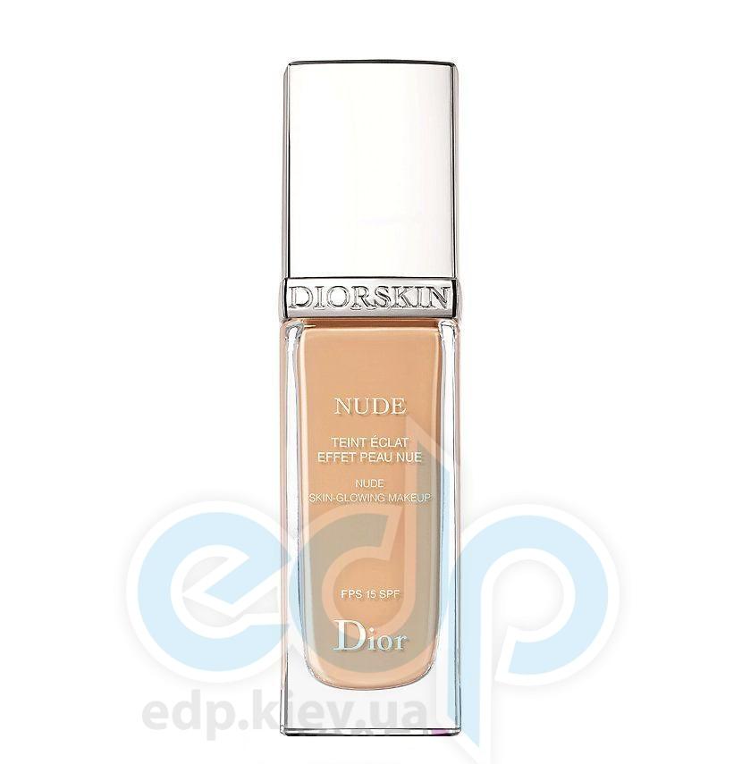 Тональный крем Christian Dior - Diorskin Nude Teint Eclat Effet Peau Nue SPF15 №023 Peach - 30 ml