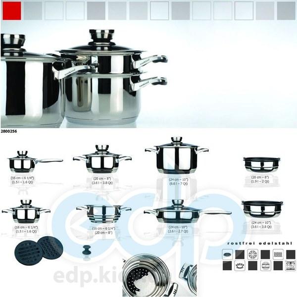 Berghoff Cook&Co (посуда) COOK and Co (от Berghoff) -  Набор посуды -  16 предметов с металлическими крышками (арт. 2800256)