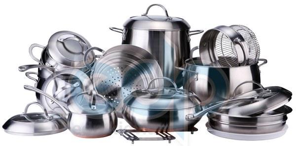 Vinzer (посуда) Vinzer -  Набор посуды GRAND MAJESTIC NEW - 19 предметов, медное термоаккумулирующее дно, комбинированная крышка (стекло – металл), матовая внешняя поверхность (арт. 89036)
