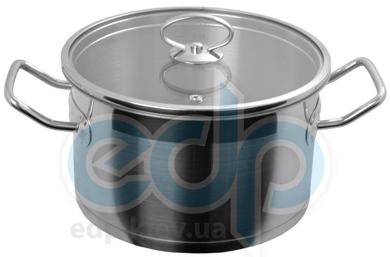 Vinzer (посуда) Vinzer -  Кастрюля - нержавеющая сталь, диаметр 18см, 2,6л (арт. 89062)