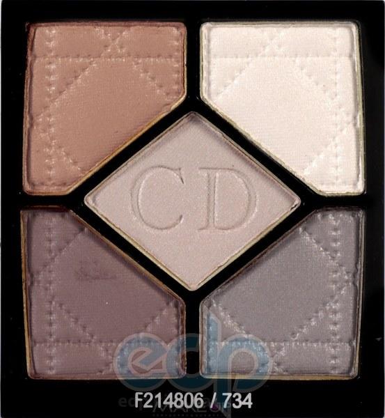Тени для век Christian Dior - 5-Colour Eyeshadow №734 Grege TESTER