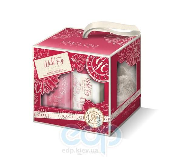 Grace Cole - Набор подарочный Bathing Essentials (гель для душа 100 ml + лосьон для тела 100 ml + мочалка)
