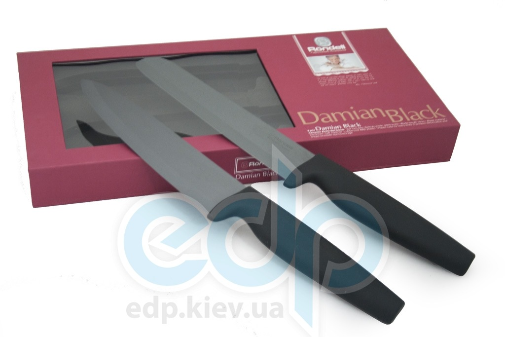 Rondell - Набор керамических ножей Damian Black (арт. RD-464)