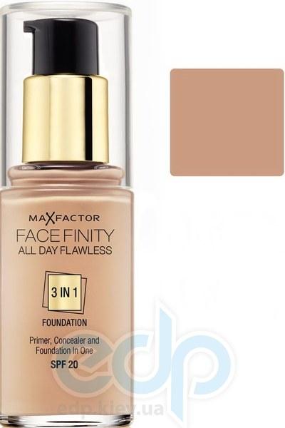 Тональный крем для лица матовый для всех типов кожи Max Factor - Facefinity All Day Flawless 3-in-1 Foundation №50 SPF 20 Натуральный - 30 ml