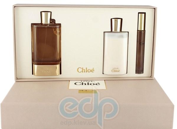 Chloe Love -  Набор (парфюмированная вода 75 + лосьон-молочко для тела 100 + mini roll)