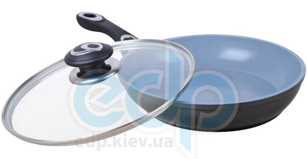Lessner - Сковорода Omega с крышкой Ceramik Line Brown диаметр 22 см (арт. ЛС88340-22)