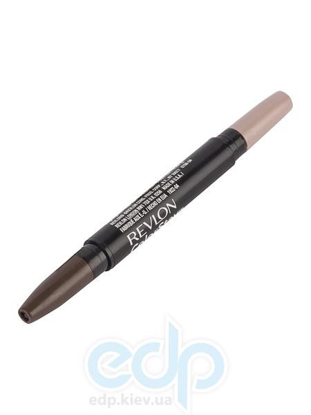 Воск для бровей двухсторонний с хайлайтером Revlon - Colorstay Brow Enhancer №4 Темно-коричневый/Песочный сероватый