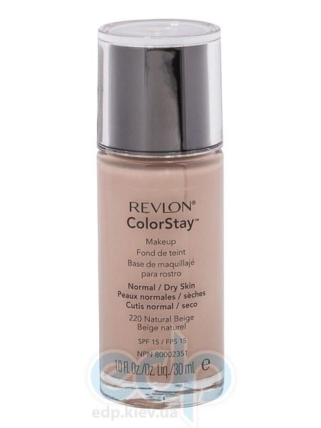 Тональный крем стойкий для нормальной/сухой кожи Revlon - Colorstay Makeup with Softflex №220 Натуральный беж