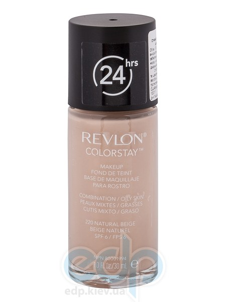 Тональный крем стойкий для комбинированной/жирной кожи Revlon - Colorstay Makeup with Softflex №220 Натуральный беж