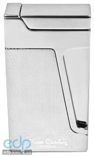 Pierre Cardin - Зажигалка газовая кремниевая турбо, хром/насечка (арт. MFH-272-03)