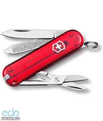 Складной нож Victorinox - Classic Sd - 58 мм, 7 функций красный прозрачный (0.6223.Т)
