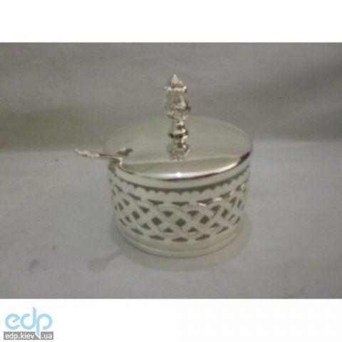 Lessner - Сахарница с ложкой Silver 9х9х9.7см (арт. ЛС99125)
