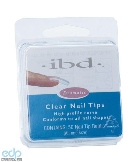 ibd - Clear Nail Tips Прозрачные типсы № 7 - 50 шт