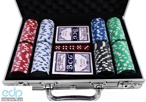 Настольная игра - Набор для покера Duke на 200 фишек в алюминиевом кейсе (арт. CG-11200)