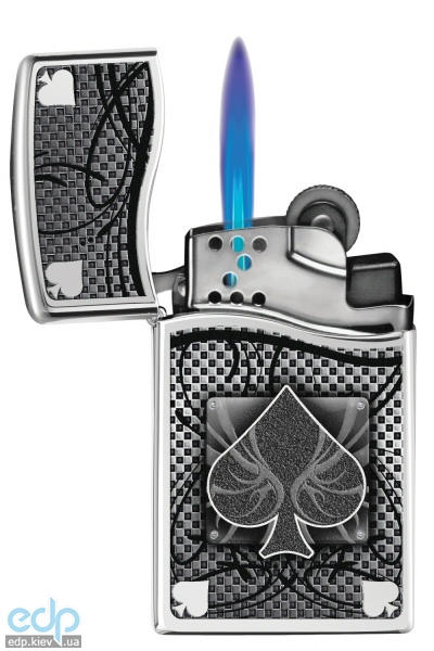 Зажигалка газовая Zippo - Blu2 Ace of Spades Polished Chrome (30201)