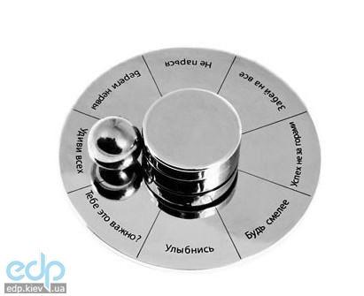 Настольная игра - Приниматель решений и держатель бумаги Elite Roulette,  серебрянный (арт. CS371)