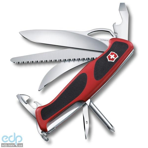 Складной нож Victorinox - Delemont RangerGrip 58 - 130 мм, 13 функций красно-черный (0.9683.MC)