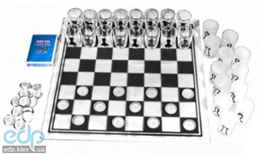 Настольная игра - Алконабор из 3 игр Duke шахматы, шашки, карты (арт. CDJ03-3)