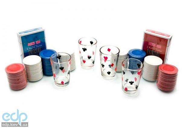 Настольная игра - Набор для покера Duke 200 фишек, 4 рюмки (арт. PG42200)
