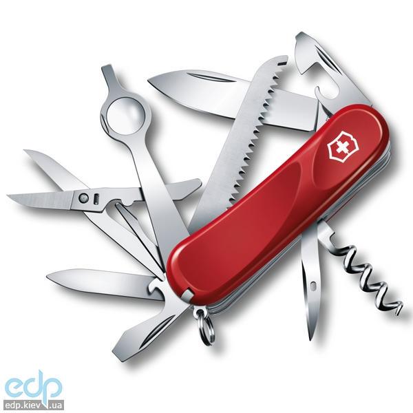 Складной нож Victorinox - Delemont Evolution 23 - 85 мм, 17 функций красный (2.5013.E)
