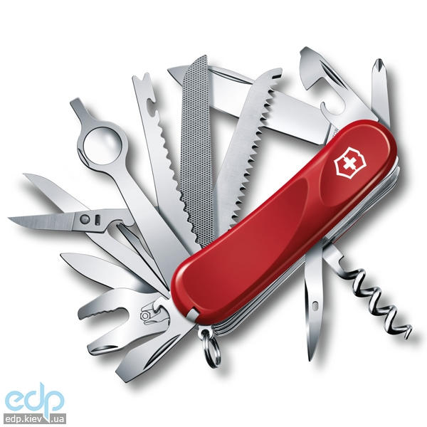 Складной нож Victorinox - Delemont EvoGrip 28 - 85 мм, 23 функций красный (2.5383.E)