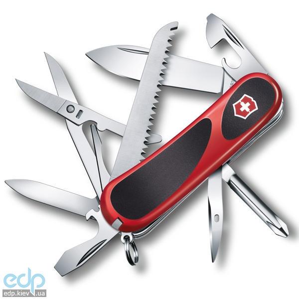 Складной нож Victorinox - Delemont EvoGrip 18 - 85 мм, 15 функций красно-черный (2.4913.C)