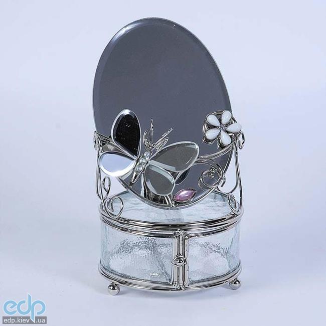 Charme De Femme - Шкатулка с зеркалом Зеркальная бабочка (арт. 300-MB)