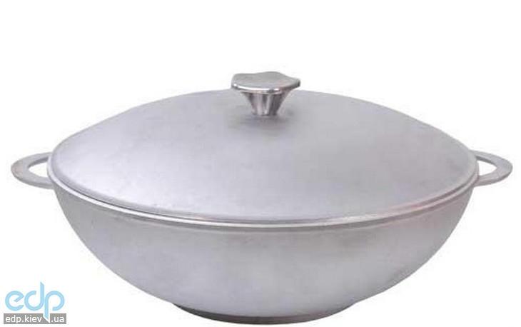 Биол - Сковорода Wok с крышкой и 2-мя алюминиевыми ручками диаметр 32 см (3203К)
