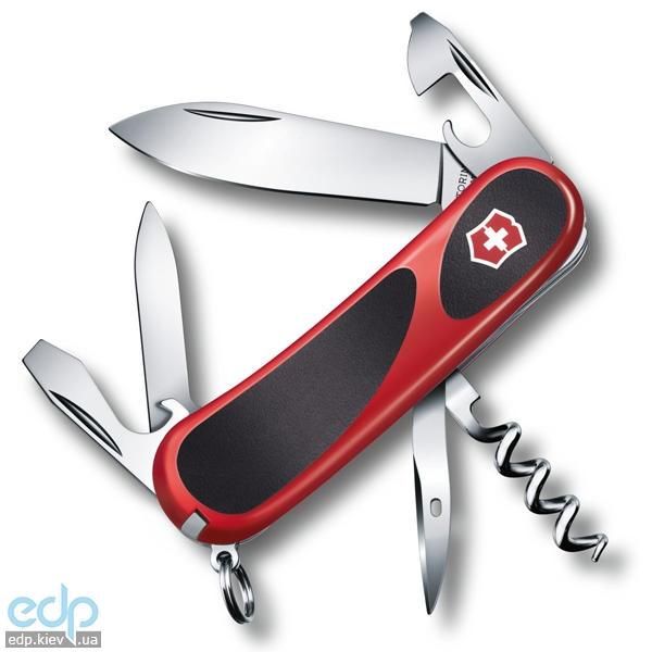 Складной нож Victorinox - Delemont EvoGrip 10 - 85 мм, 13 функций красно-черный (2.3803.C)