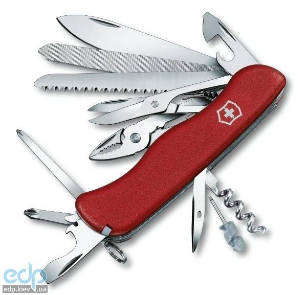 Складной нож Victorinox - WorkChamp - 111 мм, 21 функций нейлон красный (0.9064)