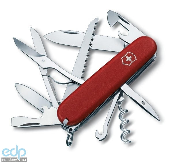 Складной нож Victorinox - EcoLine Huntsman - 91 мм, 15 функций нейлон красный (3.3713)