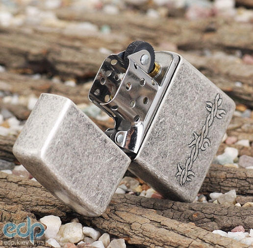 Зажигалка Zippo - Barbed Wire Antique Silver Plate (999)