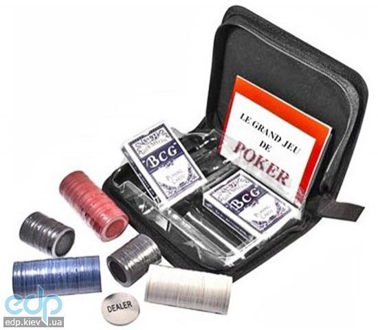 Настольная игра - Набор для покера Duke в тканевом кейсе (арт. CC02100)