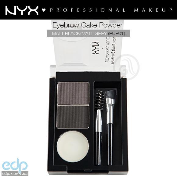 NYX - Тени для бровей Eyebrow Cake Powder Black / Grey ECP01 - 2.65 g