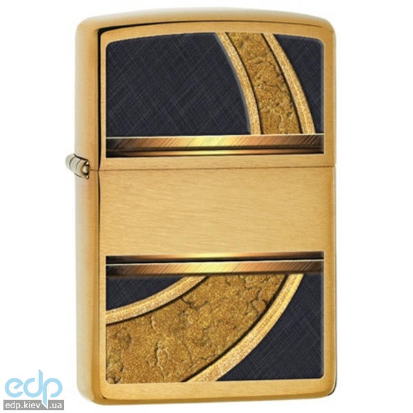 Зажигалка Zippo - Gold And Black Brushed Brass (28673)