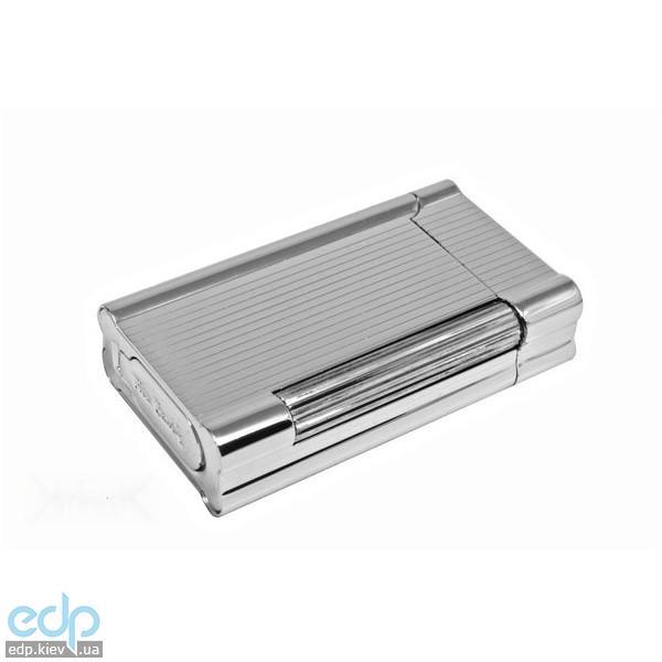 Pierre Cardin - Зажигалка газовая кремниевая серебро с насечкой (арт. MF-222-02)