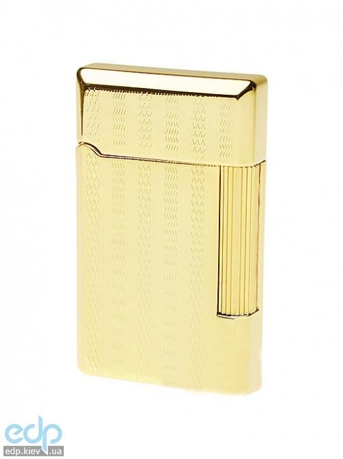 Pierre Cardin - Зажигалка газовая кремниевая золото с насечкой (арт. MF-28-05)