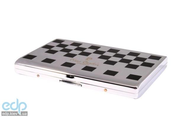 Pierre Cardin - Портсигар на 18 сигарет шахматный узор  9 см х 6 см х 1 см (арт. P-900-05)