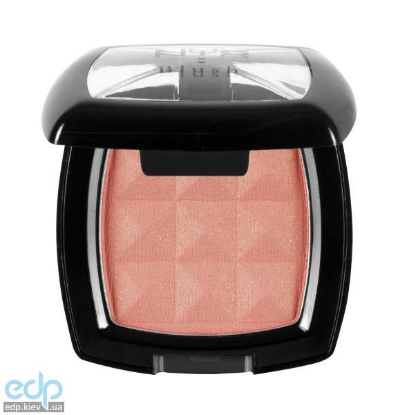 NYX - Компактные румяна Nyx Powder Blush розовый персик с золотым мерцанием Apricot PB32 - 4 g