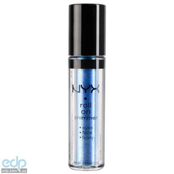 NYX - Тени-пигменты ультрасияющие Roll On Shimmer Blue - холодный голубой пигмент RES10 - 1.5 g